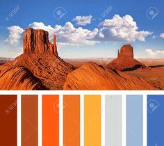 arizona color palette - Google Search Paint Color Schemes, Paint Colors, Wax Studio, Arizona, Warm Colour Palette, Rock Formations, Colour Board, Colorful Birds, Coordinating Colors