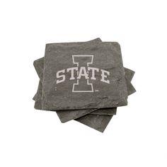 """Iowa State"" Slate Coasters (set of 4)"