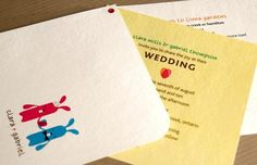 Love Bunnies I Eco-friendly Wedding Invitation Set