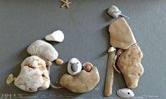 """""""Nativity scene"""" pebble art by Hara"""