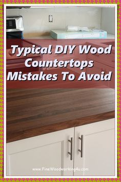 Generally speaking, most of the negatives to wood can be avoided with good care. Bacteria Can Live in Poorly Sealed Wood. We've all heard it. #woodencountertops #woodcountertops Fine Woodworking, Woodworking Projects, Diy Wood Countertops, Wood Surface, Kitchen Cabinets, Live, Home Decor, Decoration Home, Room Decor