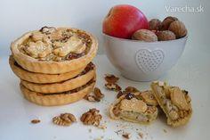 Koláčiky s Nivou, jablkom a orechmi (fotorecept)