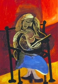 Girl reading Woman reading (Marie Therese Walter), 1960 Reading, 1921 Femme lisant Woman reading (Olga) Reading a l...