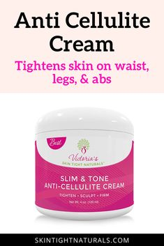 Anti Cellulite Cream | Skin Tightening Natural Anti Cellulite Cream Firming Lotion Extreme Slimming Botanical Defense Reduce Sagging Loose Skin Dimples Buttocks Legs Stomach. It helps to detox the skin, remove toxins, decrease dimply formations, and help maintain the appearance of toned smooth looking skin. You will love this unprecedented formula that is packed with skin-transforming greatness. Get this cream for total body firming. #AntiCelluliteCream #CelluliteRemedies #TightenSkin… Natural Skin Tightening, Skin Tightening Cream, Cellulite Cream, Anti Cellulite, Tighten Loose Skin, Cellulite Remedies, Beauty Recipe, Anti Aging Cream, Skin Cream