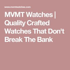MVMT Watches | Quality Crafted Watches That Don't Break The Bank