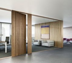 timber framed glass office partitions