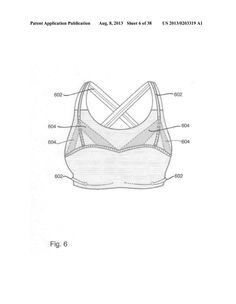 Sports bra - diagram, schematic, and image 07