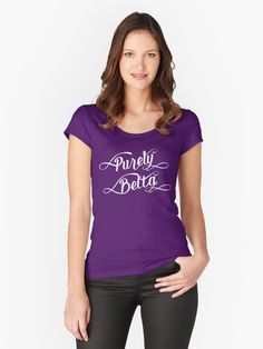 #Newcastle #Geordie dialect - Purely Belta women's fitted scooped neck t-shirt, also available in many more styles of #hoodies and #tshirts #redbubble #slang #dialect
