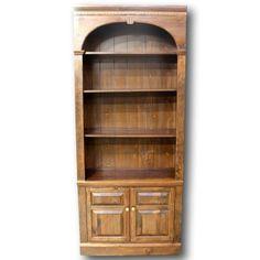 Dark Pine Bookcase - Best Master Furniture Check more at http://fiveinchfloppy.com/dark-pine-bookcase/