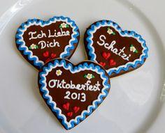 "Oktoberfest decorated ""Gingerbread heart"" cookies, 1 Dozen"