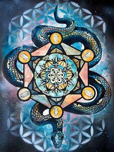 sacred-geometry-snake-mandala-screen-print