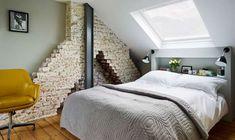 42 cozy loft bedroom design ideas for small space bedroom de Attic Bedroom Small, Attic Bedroom Designs, Attic Rooms, Attic Spaces, Bedroom Layouts, Small Spaces, Attic Design, Attic Bathroom, Attic Playroom