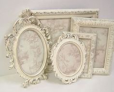 Picture Frames Shabby Chic Picture Frame by MountainCoveAntiques, $96.00
