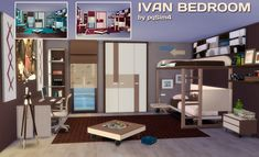 Ivan bedroom at pqSims4 • Sims 4 Updates