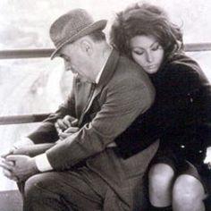 Sofia Loren and Carlo Ponti.  I love their photos, so intimate.