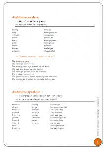 Auditieve oefeningen bij koningsdag  (Thema koning/koningin)