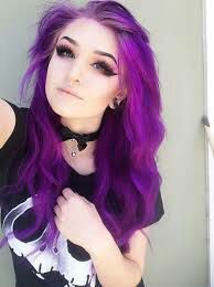 Cute Girl With Purple Hair : purple, Depression
