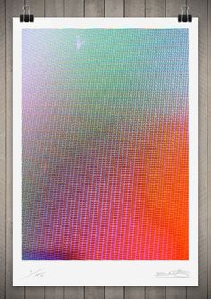 Inspiration / Image of Studies in Broadcast Colour 1 111cm x 76cm — Designspiration