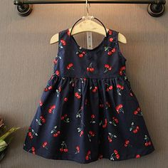 Cheap baby dress, Buy Quality vestido baby directly from China princess baby dress Suppliers: 2017 Summer Toddler Girls Dress Casual Clothing Cherry Print Princess Baby Dress Cotton Backless Kids Vestidos Baby Girl Clothes Kids Outfits Girls, Toddler Girl Dresses, Baby Outfits, Girls Dresses, Summer Dresses, Pageant Dresses, Tutu Dresses, Baby Dresses, Summer Clothes