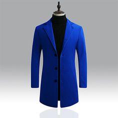 Mens Overcoat, Winter Overcoat, Cheap Mens Jackets, Trench Coat Men, Long Winter Coats, Windbreaker Jacket, Men Casual, Single Breasted, Work Party