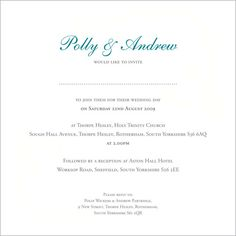 Wedding Invite Wording My dream wedding Pinterest Wedding
