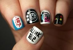 blink 182 nail design