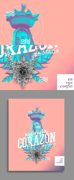 Colección de posters homenajeando el valor de la cultura colombiana y su trascendencia a través de los prejuicios religiosos.