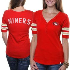 '47 Brand San Francisco 49ers Ladies Playoff T-Shirt - Red