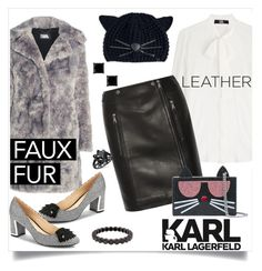 """""""Karl Lagerfeld: Cat Glamour"""" by fashionistamummy83 on Polyvore featuring Karl Lagerfeld and Sethi Couture"""