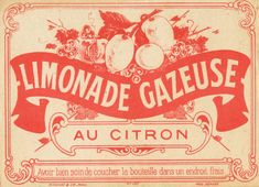 French limonade label