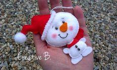 Moldes para hacer colgantes navideños con fieltro01