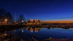 Just after sunset at the Burlington waterfront in Burlington Vermont.  Please share and like. If you would like to purchase this photograph message me and I will make arrangements for you.  #newengland #newenglandphotography #landscapes