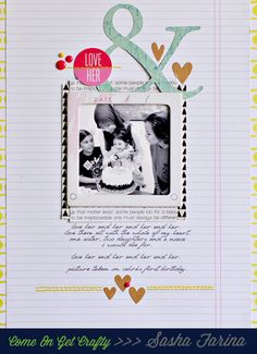 #papercraft #scrapbook #layout.  Love Her by Sasha at @Studio_Calico