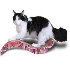 Scratch 'n Shapes Valentine Medium Purrfect Stretch Scratcher - BD Luxe Dogs & Supplies - 1