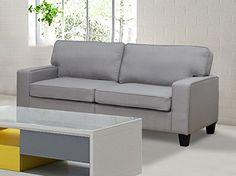 U.S. Livings Anika Modern Living Room Sofa Set (Sofa, Grey)