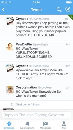 Very good question.... When is the marriage??? Cause I ship it #PewDieCry