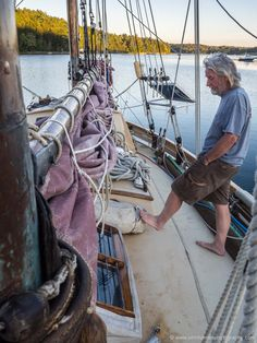 Mick points to Hannah's Jordan Series Drogue. The boat my be old fashioned to some eyes but her crew have applied modern thinking in areas where it makes sense like storm survival.