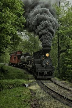 Riding on the old steam locomotives....