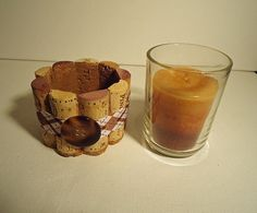 Upcycled Wine Cork Votive Candle holders by TheGoodWineArtist, $16.00
