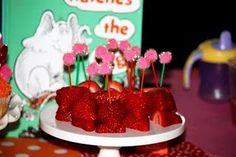 Horton Hears A Who snacks but replace strawberries