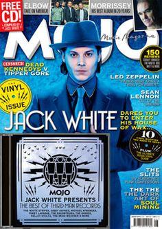Jack White cover of Mojo Jack White, Led Zeppelin Vinyl, Sean Lennon, Why I Love You, The White Stripes, Lenny Kravitz, Best Albums, Him Band, Shades Of White