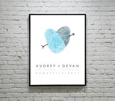 Thumbprint Wedding Sign Guest Book Alternative Unique Wedding Gift Fingerprint Wedding Guest Sign In Poster Canvas Welcome Sign Wedding Unique Wedding Gifts, Wedding Keepsakes, Handmade Wedding, Unique Weddings, Gift Wedding, Personalized Wedding, Personalized Items, Wedding Posters, Wedding Prints