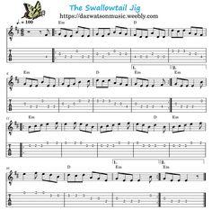 The Swallowtail Jig Easy Guitar Tab + Chords