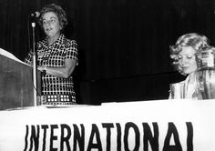 FIET rep H Scammell and Betty Spears, Federated Clerks, IWD 1975