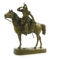 Mathilde Thomas-Soyer FRENCH LE CUIRASSIER À CHEVAL.