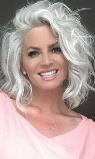 zhooshed hair - Best Hairstyles & Haircuts for Men and Women in 2019 Long Gray Hair, Silver Grey Hair, Medium Hair Styles, Curly Hair Styles, Hair Tinsel, Glitter Hair, Grey Hair Inspiration, Great Hair, Hair Dos