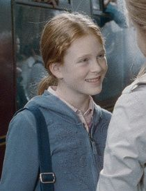 "Rose Weasley: She's the eldest child of Ron and Hermione, and is played by Helena Barlow in the last ""Harry Potter"" film. She's also Harry Potter's niece."