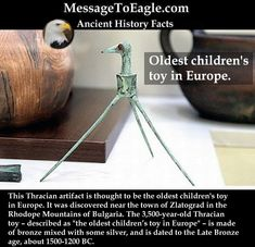 Ancient History Facts: 'Oldest Children's Toy in Europe' – Late Bronze Age Thracian Toy Stork