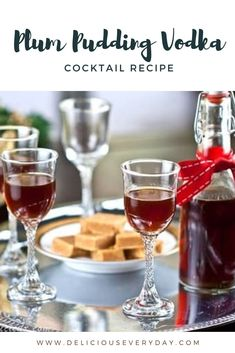 This Plum Pudding Vodka brings the flavors of this classic Christmas dessert to your cocktails. Plum vodka is made by infusing the vodka with flavorful fruit, vanilla beans, cinnamon sticks, and nutmeg. #cocktail #partydrink #drinkrecipe