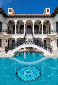 Mansions homes Dream house mansions Rich people lifestyle Mansions luxury Modern mansions House goals 458382068318853293 Mansion Homes, Dream Mansion, Dream Houses, Mansion Interior, Luxury Houses, Luxury Pools, Dream Pools, Mediterranean Homes, Tuscan Homes